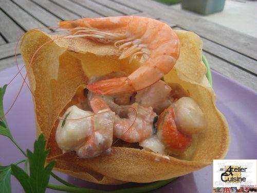 Timbales croustillantes aux fruits de mer Timbale-croustillante-aux-fruits-de-mer