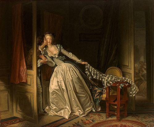 La  FEMME  dans  l' ART - Page 22 Fragonard-1780-Baiser-vole