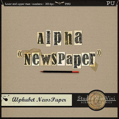 "{MissVivi} CU ""Bouquet"" et 4 ""Wedding Templates"" MissVivi_Alpha_Newspaper_PV600"