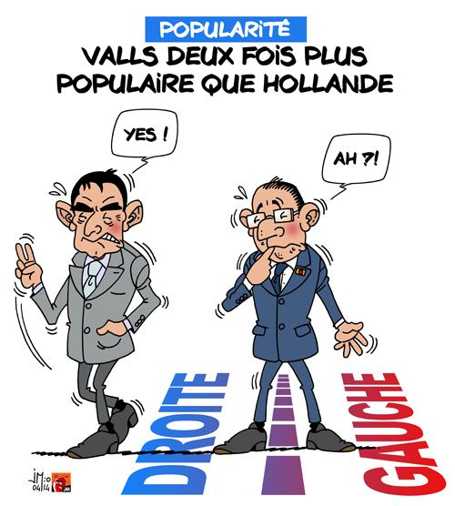A RIRE OU EN PLEURER OU REVUE DE PRESSE SATIRIQUE - Page 3 Valls-hollande-jm