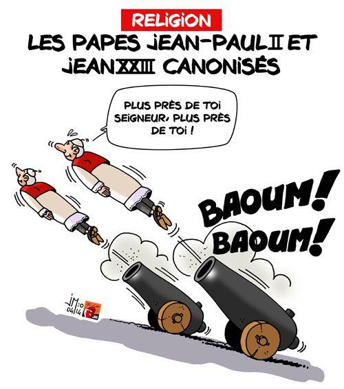A RIRE OU EN PLEURER OU REVUE DE PRESSE SATIRIQUE - Page 5 Papes-canons-jm