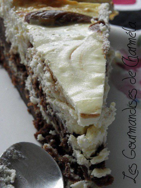 chocolat - Mariage Heureux d'un Fondant au Chocolat et d'un Cheesecake P9050201
