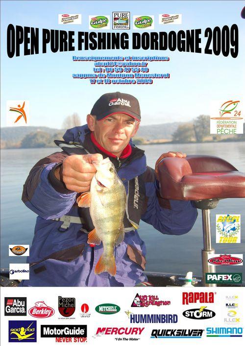 OPEN PURE FISHING DORDOGNE 2009 AFFICHE-OPEN-24-2009