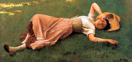 Lonesome cowboy Frank-Duveneck---La-sieste
