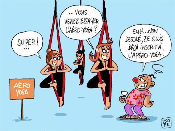 A RIRE OU EN PLEURER OU REVUE DE PRESSE SATIRIQUE - Page 13 Aero-yoga-Ysope