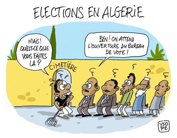 A RIRE OU EN PLEURER OU REVUE DE PRESSE SATIRIQUE - Page 4 Election-bouteflika-Ysope