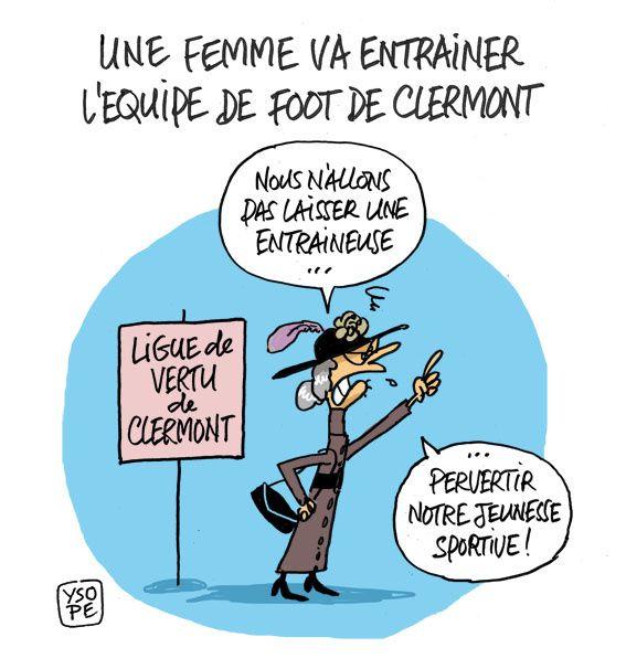 A RIRE OU EN PLEURER OU REVUE DE PRESSE SATIRIQUE - Page 6 Entraineuse-Clermont-Foot_Ysope
