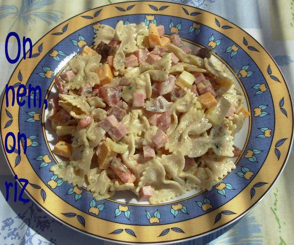 Salade de farfalles au curry Salade-de-farfale-au-curry1