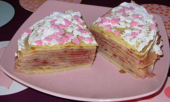 Gâteau de crêpes à la fleur d'oranger et à la fraise Gateau-de-crepes-a-la-fraise5