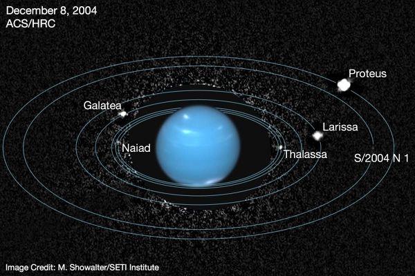 Hubble a retrouvé Naïade, la lune « perdue » de Neptune 8842bd5f2c_Naiade_neptune_hubble_2_Showalter_Seti_Institute