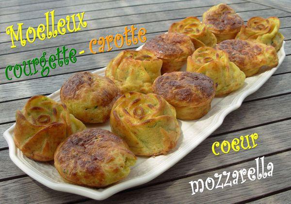 Moelleux courgette-carotte, coeur fondant de mozzarella - Page 2 Moelleux-carotte-courgette-mozza2
