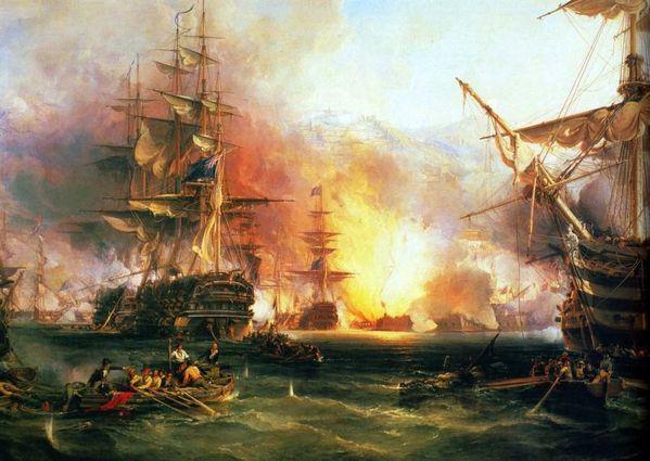 Les chrétiens d'Orient en danger d'extinction - Page 3 Chambers--Le-bombardement-d_Alger-27-Aout-1816-