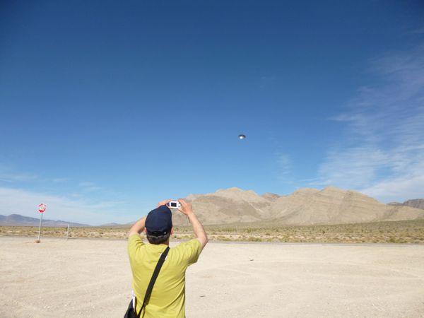Ovni pris en photo près de Rachel dans le Nevada non loin de la Zone 51 le 8 novembre 2012 Rachel-1