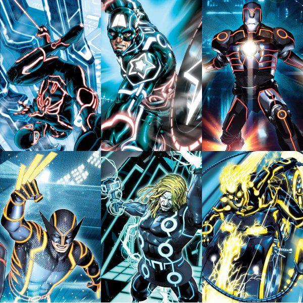 [Disney] Tron, l'Héritage (09 février 2011) - Page 16 Tronmarvel