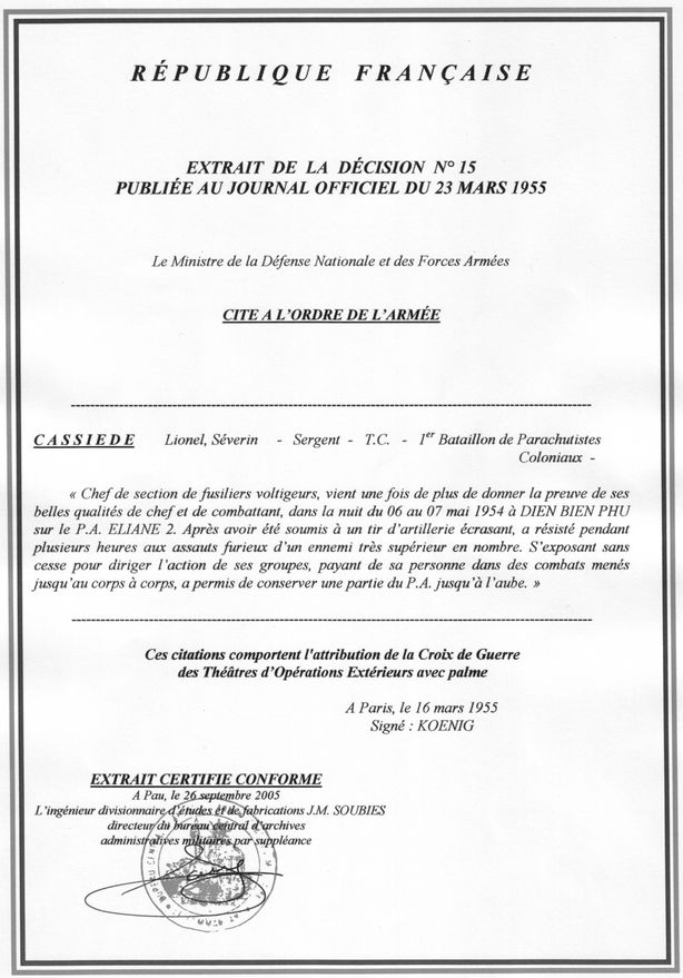 Adjudant Lionel Cassiède 1er-BPC-DBP-7--mai-1954