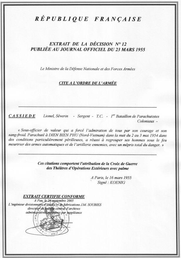 Adjudant Lionel Cassiède 1er-BPC-DBP-3-mai-1954