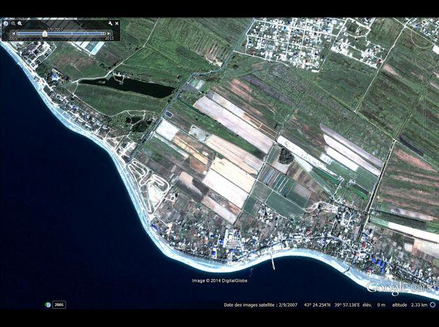 JO Sochi 2014 Google-Earth---JO-2014---Sotchi---Adler---02-09-2007