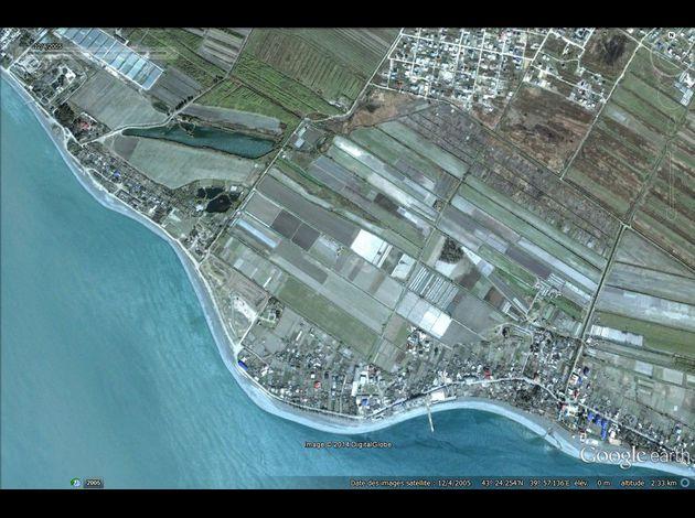 JO Sochi 2014 Google-Earth---JO-2014---Sotchi---Adler---12-04-2005