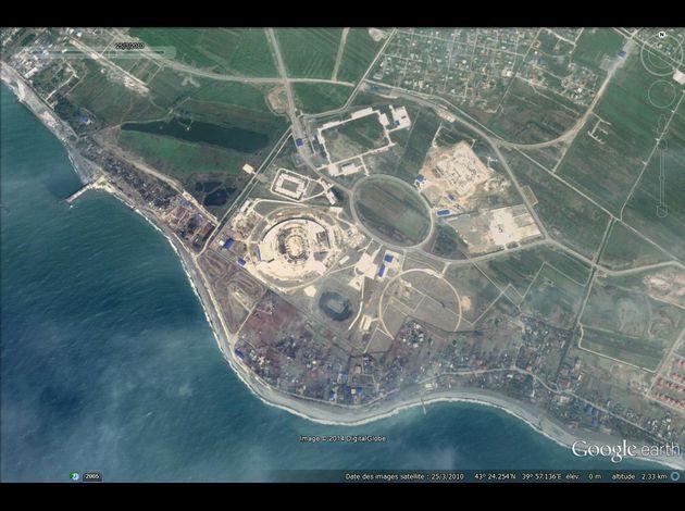 JO Sochi 2014 Google-Earth---JO-2014---Sotchi---Adler---25-03-2010