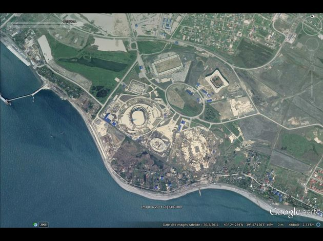 JO Sochi 2014 Google-Earth---JO-2014---Sotchi---Adler---30-05-2011