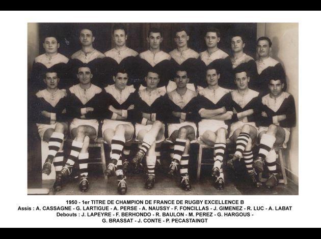 Photos équipes BTS du passé Boucau-Stade-1950