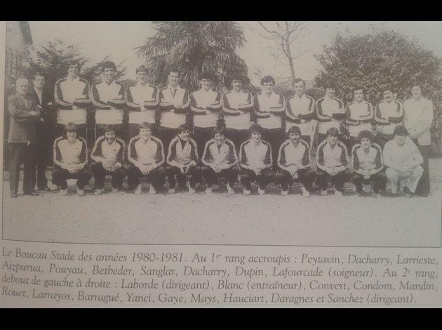 Photos équipes BTS du passé Boucau-Stade-1981