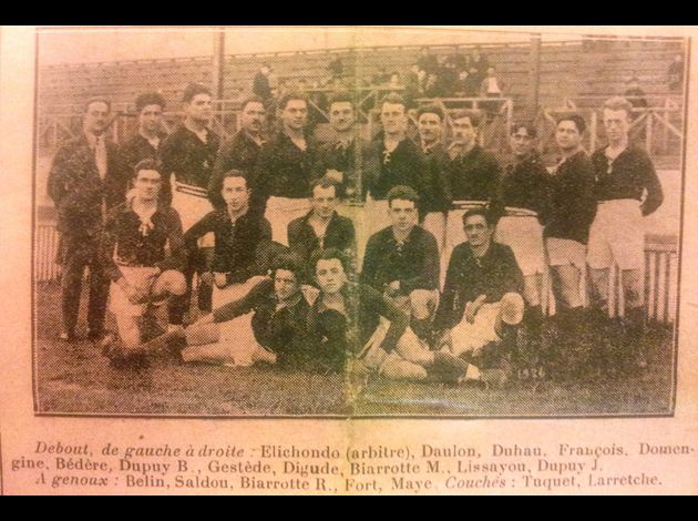 Photos équipes BTS du passé Boucau-Stade27-2-1926