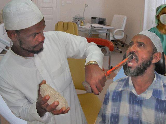 avec les moyens du bord ! Dentiste-macon