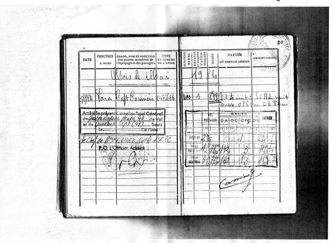 Adjudant Lionel Cassiède MAI-1954-SAUT-SUR-DBP