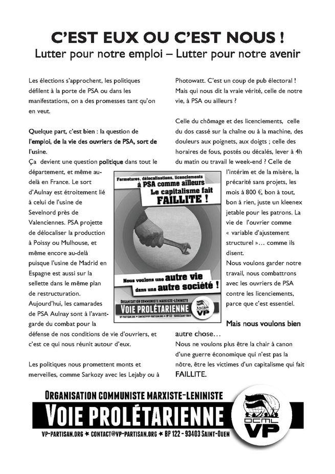 Automobile, luttes des travailleurs Tract-Vie-proletarienne-1