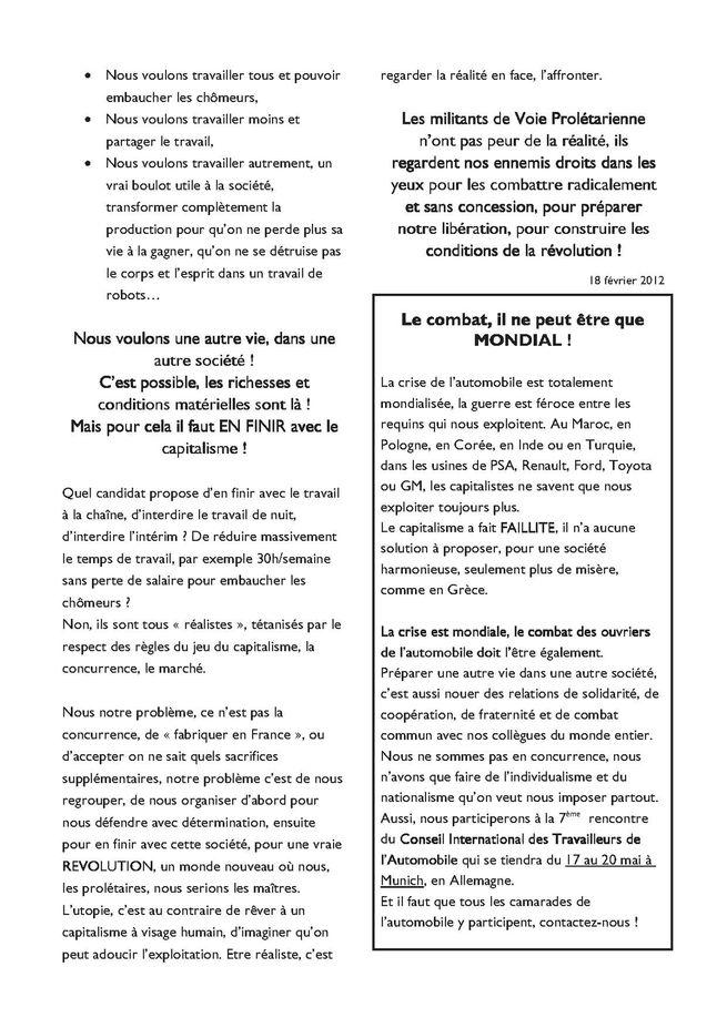 Automobile, luttes des travailleurs Tract-Vie-proletarienne-2