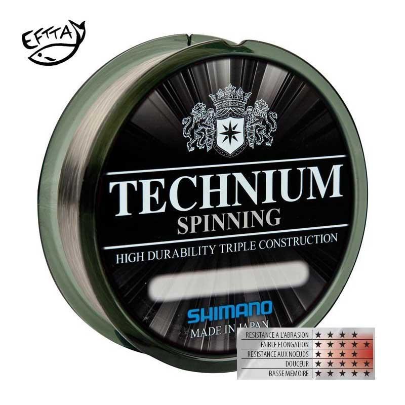Tresse, Fluorocarbone et Nylon Nylon-shimano-technium-spinning-300m-z-433-43324