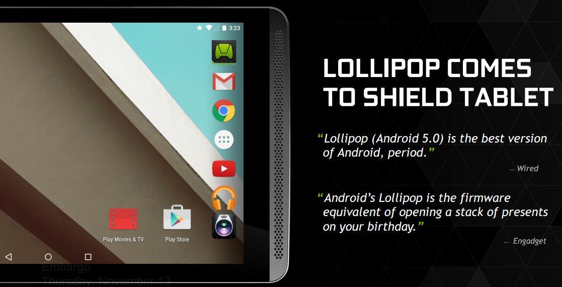 NVIDIA Shield Tablet (Mashmallow dispo) - Page 3 Nvidia-shield-tablet-lollipop