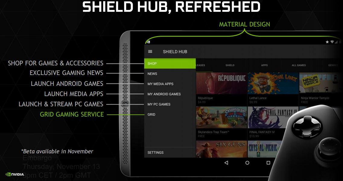 NVIDIA Shield Tablet (Mashmallow dispo) - Page 3 Shield-hub