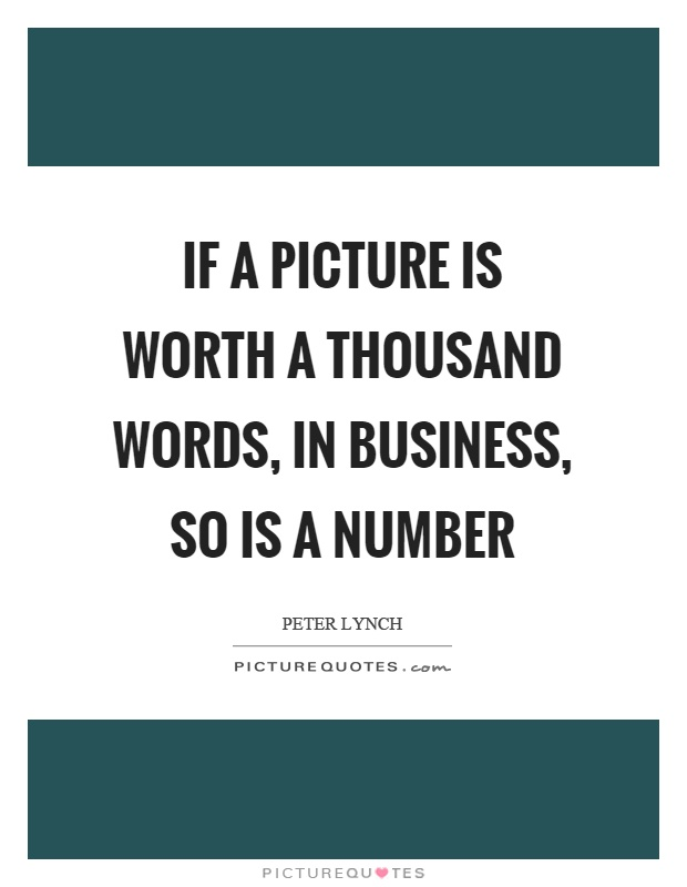 Interesting Images If-a-picture-is-worth-a-thousand-words-in-business-so-is-a-number-quote-1