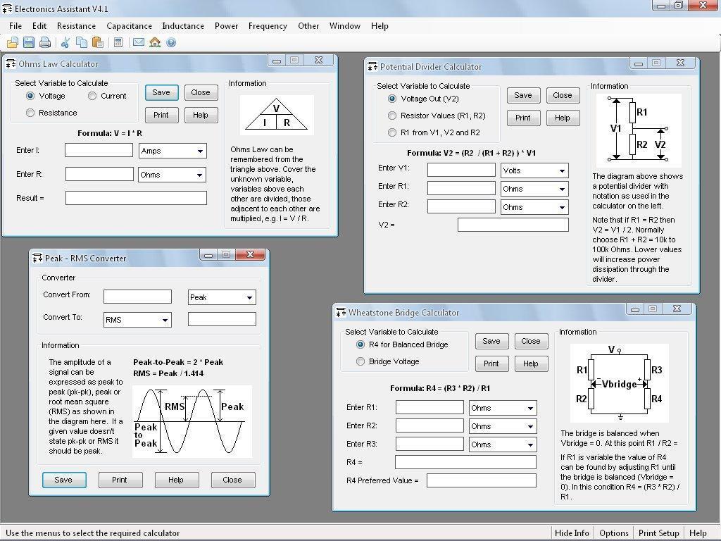 Eletronics Assistant: Software de Cálculos Eletrônicos 101814_3