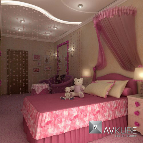 لمحبات اللون الوردي والموف. ديكورات باللون الوردي  280757