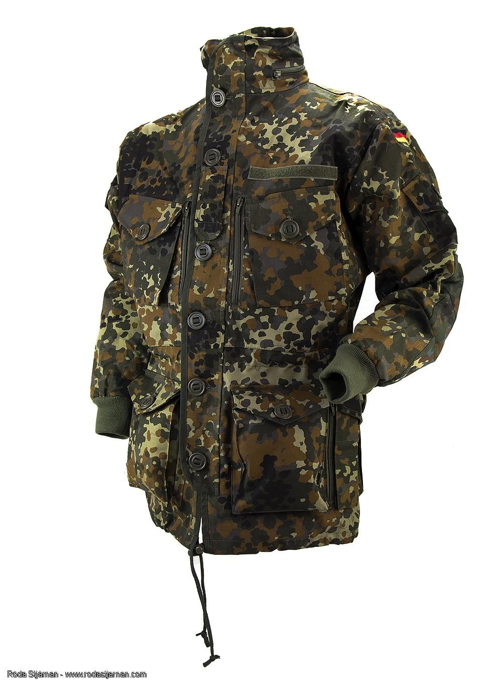 Cómo vestirse para jugar a airsoft en invierno Faltuniformer-mil-tec-ksk-smock-flecktarn-18433-c1