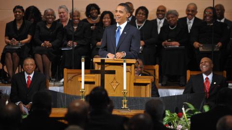 L'Antéchrist va influencer la prochaine élection présidentielle U.S.A. AFP_100819obama-eglise2_8