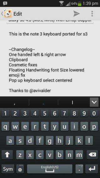 Note 3 klávesnixe Eny6yru9