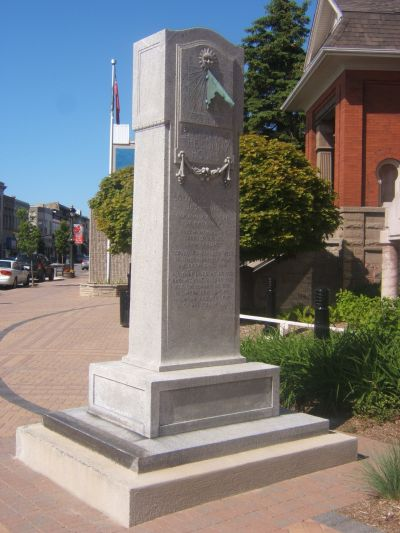 Only Monument in Canada Dedicated to a U.S. Civil War Veteran Secord1