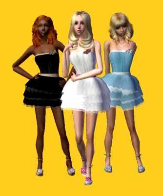 Descargas para tus sims: Conversión y mezcla de vestido/zapatos de CottonHouse & PeggyZone para tus chicas adolescentes Chpz5
