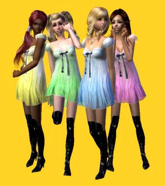 Descargas para tus sims: Conversión y mezcla de vestido/zapatos de CottonHouse & PeggyZone para tus chicas adolescentes Chpz6
