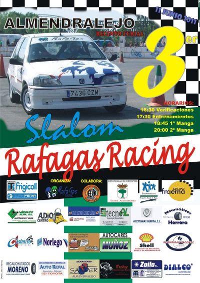 III Slalom Rafagas Racing Almendralejo 2011 Cartelrafagasracing2011