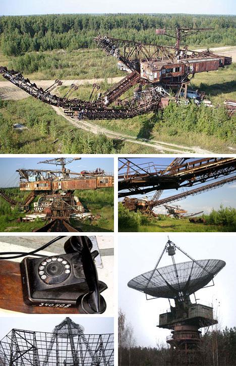 Construcciones abandonadas de la antigua URSS Abandoned-communications-and-mining-equipment