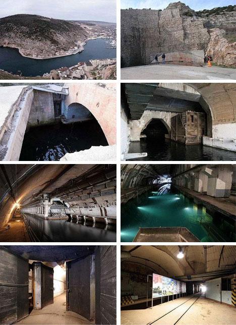 Construcciones abandonadas de la antigua URSS Abandoned-russian-underground-submarine-dock