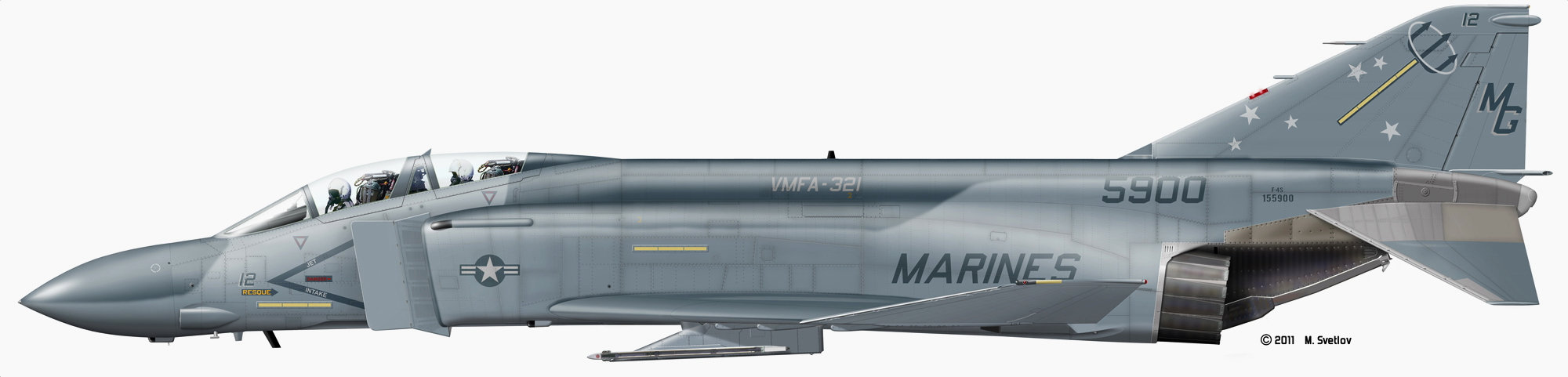 McDonnell Douglas F-4 Phantom IIN (interceptor y cazabombardero supersónico, biplaza, bimotor y de largo alcance USA) 3_212