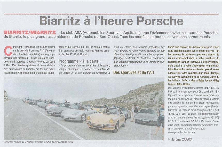 LES JOURNEES PORSCHE DE BIARRITZ - Page 2 Article2-4f86868