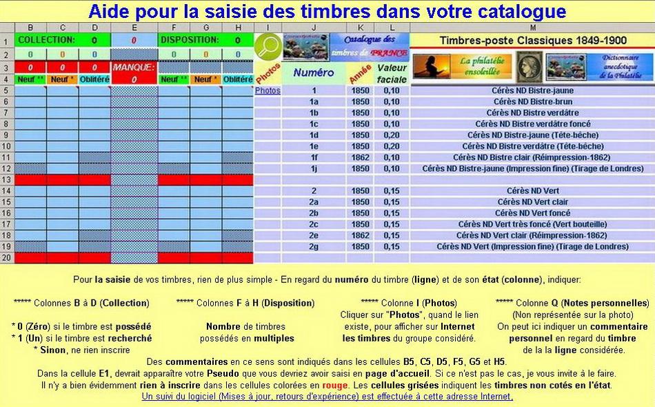 Catalogue informatique de gestion des timbres de France - Page 2 Aide-54b8b91