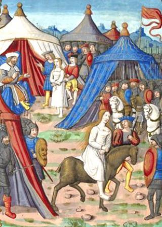 Une petite histoire par jour (La France Pittoresque) - Page 4 Brunehaut-clotaire-ii-540a01d